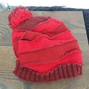 Mo Ron | Red Wool Knit Cap w/ Pom Pom